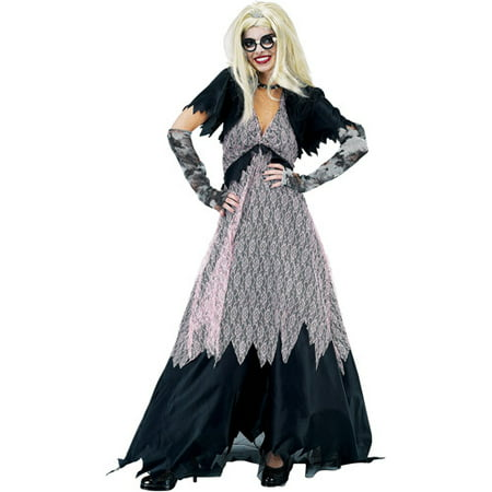 Zombie Prom Queen Adult Halloween Costume - Zombie Prom