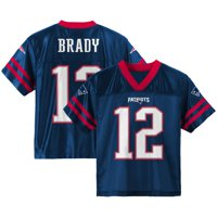 Toddler Tom Brady Navy New England Patriots Team Color Jersey