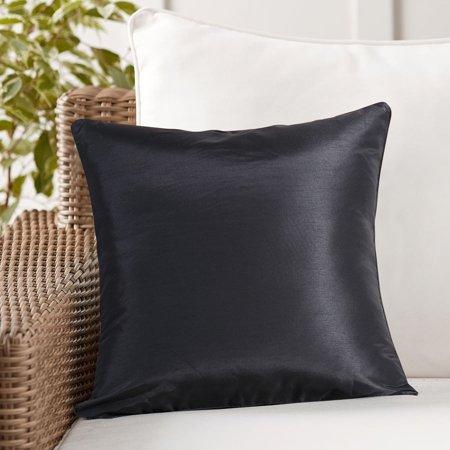 Evolive Faux Silk Solid Color Euro Sham Pillow Cover 26