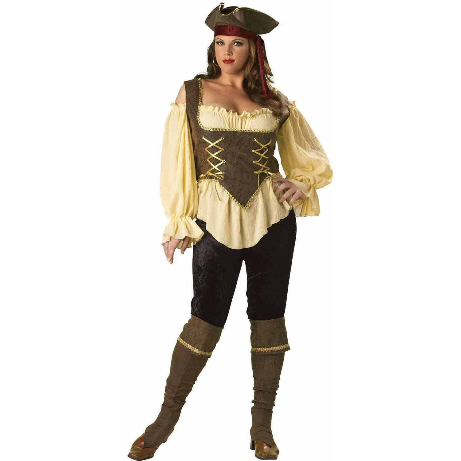 rustic pirate lady elite collection plus size women's adult