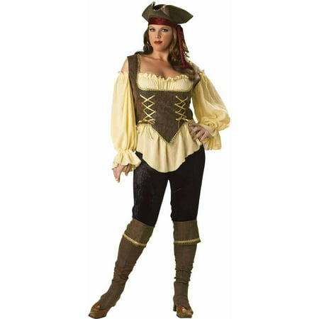 Rustic Pirate Lady Elite Collection Plus Size Women's Adult Halloween Costume - Rustic Pirate Costume