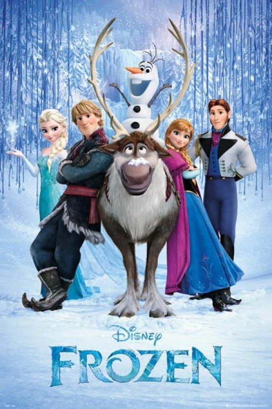 Disney Frozen Movie Cast Poster Poster Print by Poster Import