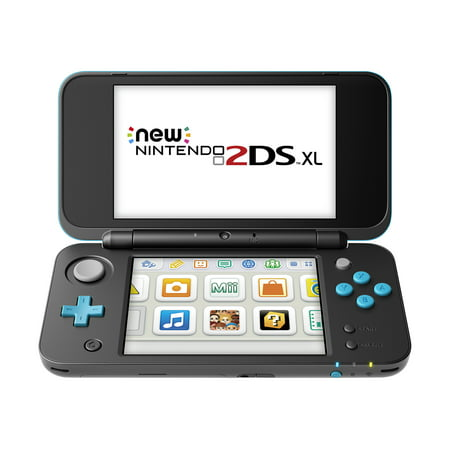 New Nintendo 2DS XL System w/ Mario Kart 7 Pre-installed, Black & Turquoise
