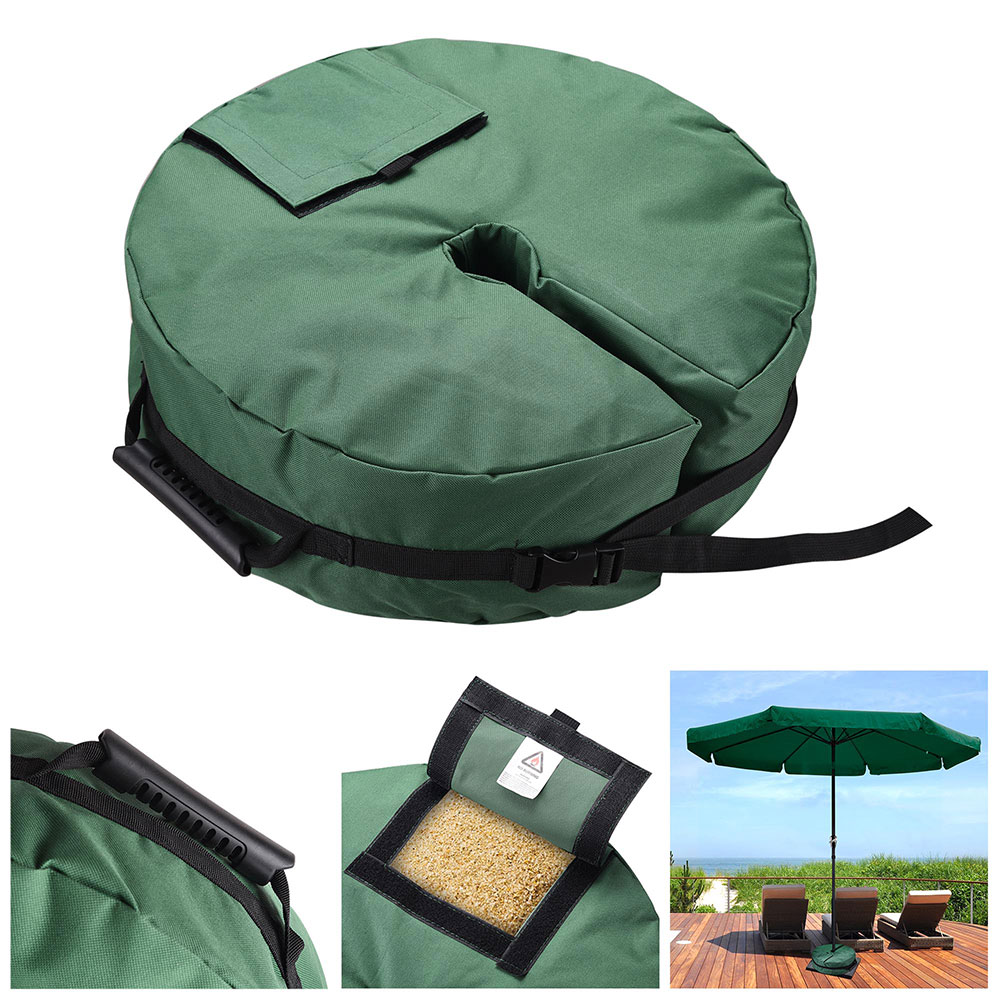 """Yescom 18"""" Round Weight Sand Bag 600D Canvas for Outdoor Umbrella Offset Cantilever Base Stand Patio Garden"""