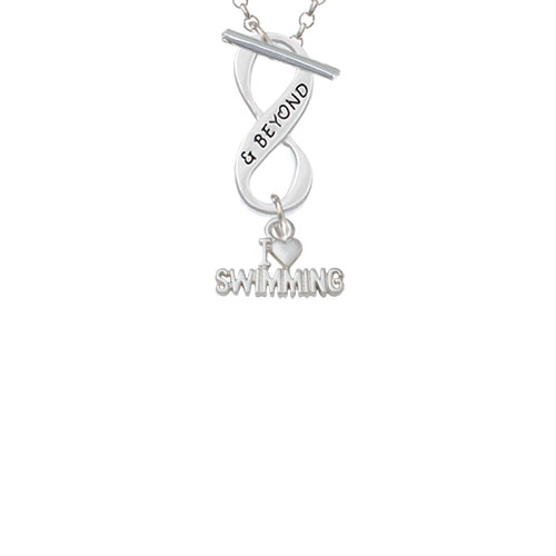 I Heart Swimming & Beyond Infinity Toggle Chain Necklace by Delight and Co.