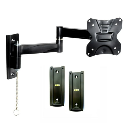 Portable Travel RV TV Mount with Locking Articulating Arm 2311L-2 Allows 1 TV to be used in 2 Locations, 2 Wall Brackets & 1 Locking Mount Keeps TV Secure in Moving Vehicles up to VESA 100x100 2 Wall Mounting Brackets