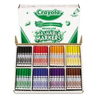 Washable Classpack Markers  Broad Point  Assorted  200-Pack