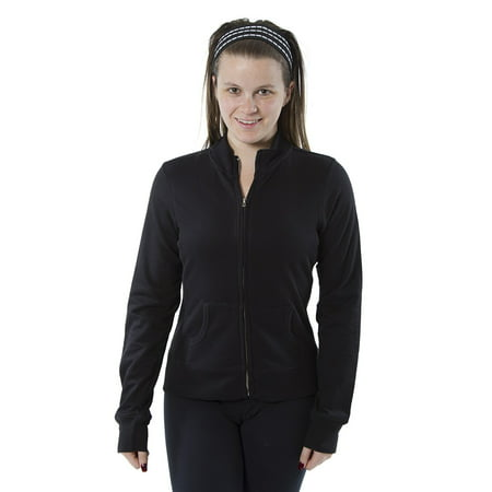Women's Long Sleeve Zip-Up Track Style Lightweight Jacket