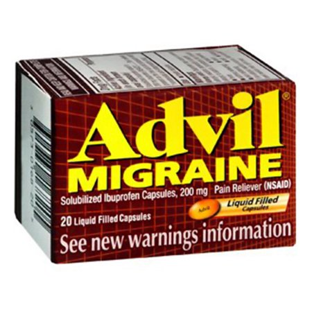 Advil Migraine Liqui-Gels 200Mg Capsules Ibuprofen For Pain And Fever - 80