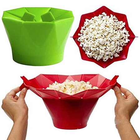 Holiday Clearance Silicone Microwave Popcorn Maker Popcorn Popper Homemade Delicious Popcorn Bowl