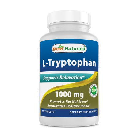 Best Naturals L-Tryptophan Tablets, 1000mg, 60 Ct