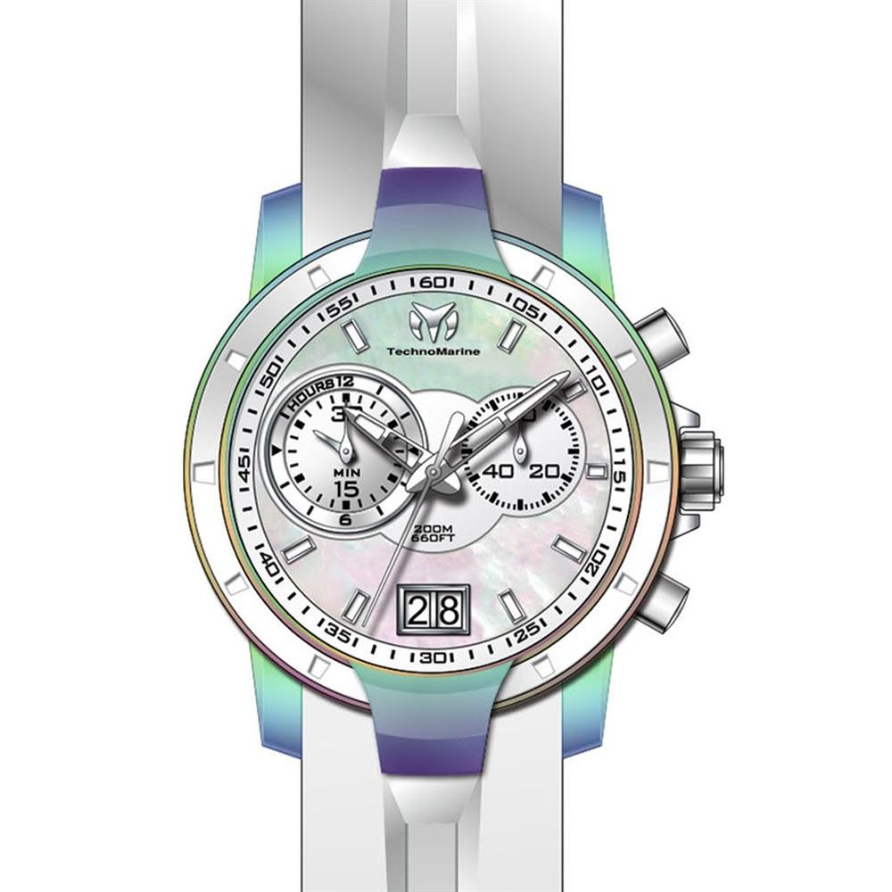 Technomarine Women's UF6 White Silicone Band Steel Case S...