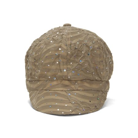 Top Headwear Women's Glitter Sequin Trim Newsboy Style Relaxed Fit Hat Cap ()