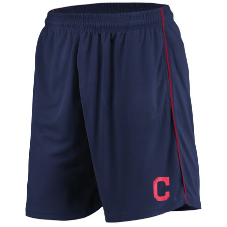 Cleveland Indians Majestic Mesh Shorts - Navy ()