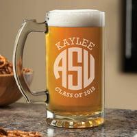 Personalized Graduation Beer Mug - Monogram