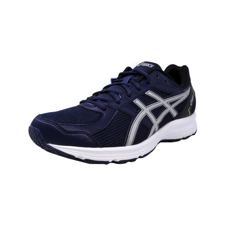 Asics Men's Jolt Indigo Blue / Silver Black Ankle-High Running Shoe - (Best Asics For Underpronation)