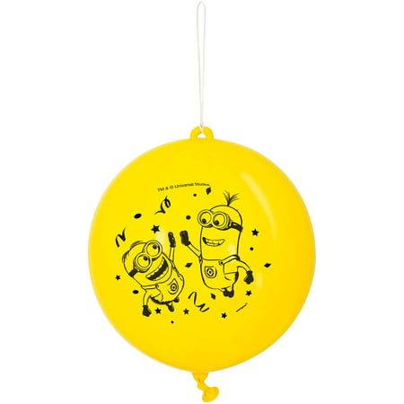 (2 pack) Despicable Me Minions Punch Ball Balloons, 16 in, Yellow, 2ct](Minion Party Balloons)