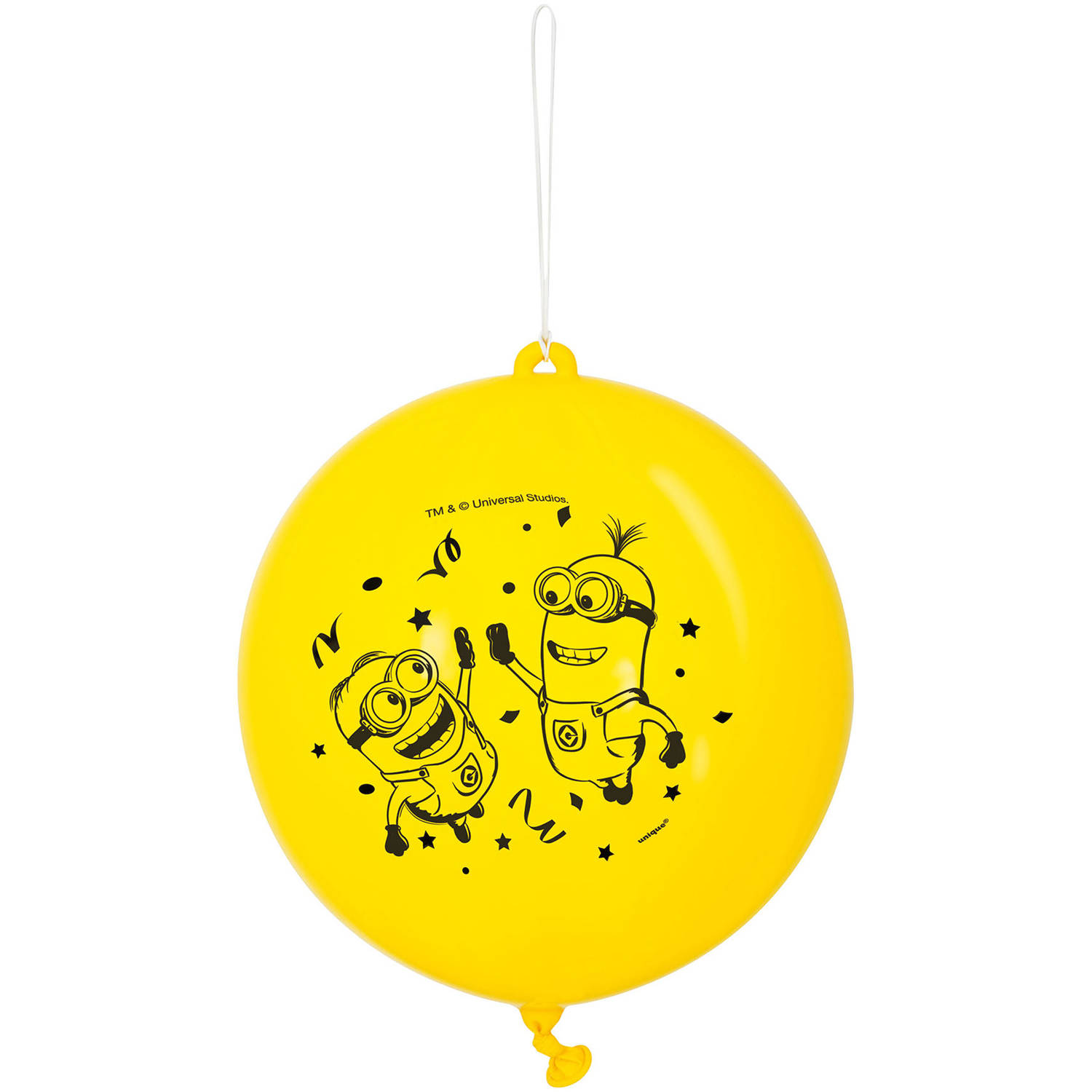 Despicable Me Minions Punch Ball Balloons, 16 in, Yellow, 2ct
