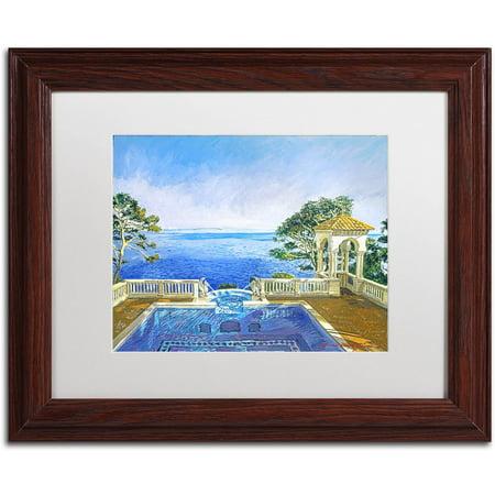"Trademark Fine Art ""Cap Martin, Monaco"" Canvas Art by David Lloyd Glover, White Matte, Wood Frame"
