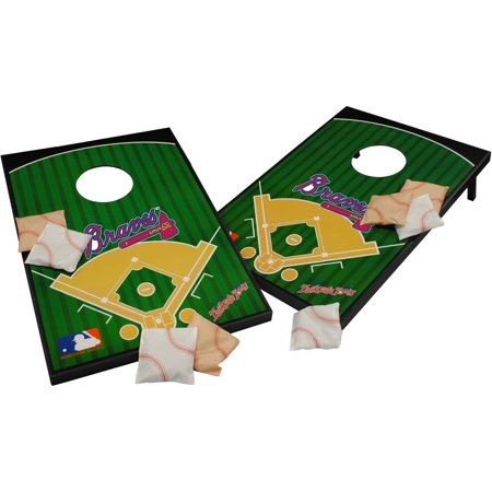 Atlanta Braves Sports Plate - Wild Sports MLB Atlanta Braves 2x3 Field Tailgate Toss