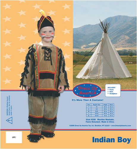 Dress Up America Deluxe Indian Boy Costume Set, Toddler T4