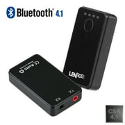 Bluetooth 4.1 Transmitter and Receiver, 2-In-1 3.5mm Wireless Audio Adapter Car Kit for TV / Home Stereo System,Headphones,Speakers, MP3 / MP4,iPhone and More