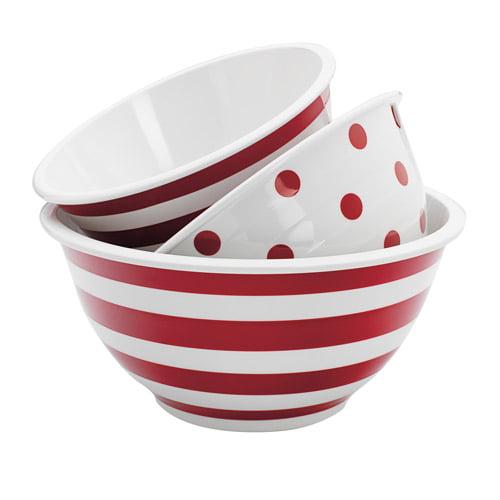 Anchor Hocking 3-Piece Decorated Melamine Mix Bowl Set