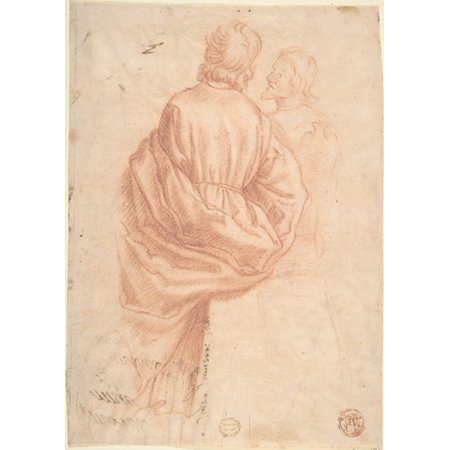 (Drapery Study Poster Print by Anonymous Italian Florentine second half of the 16th century Date 17th century Medium Red chalk on cream paper Dimensions 8-1516 x 6-38 in (18 x 24))