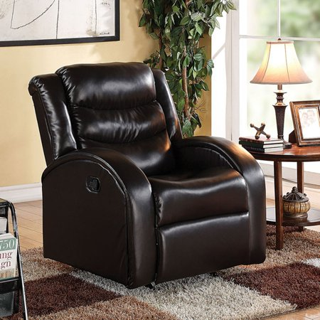 - Acme Noah Rocker Recliner, Espresso Bonded Leather Match