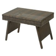 Wicker Brown Foldable Outdoor Table