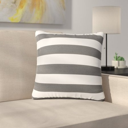 Sol 72 Outdoor Bridgwater Square Striped Outdoor Throw Pillow