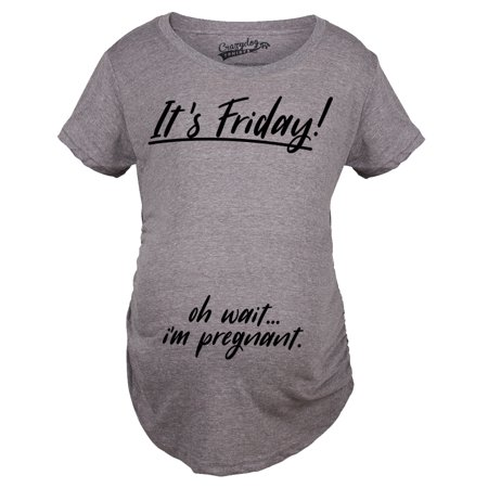 Maternity Its Friday Oh Wait Funny T shirts Cute Announce Pregnancy Cheap Pregnant T shirt](Cheap Funny)