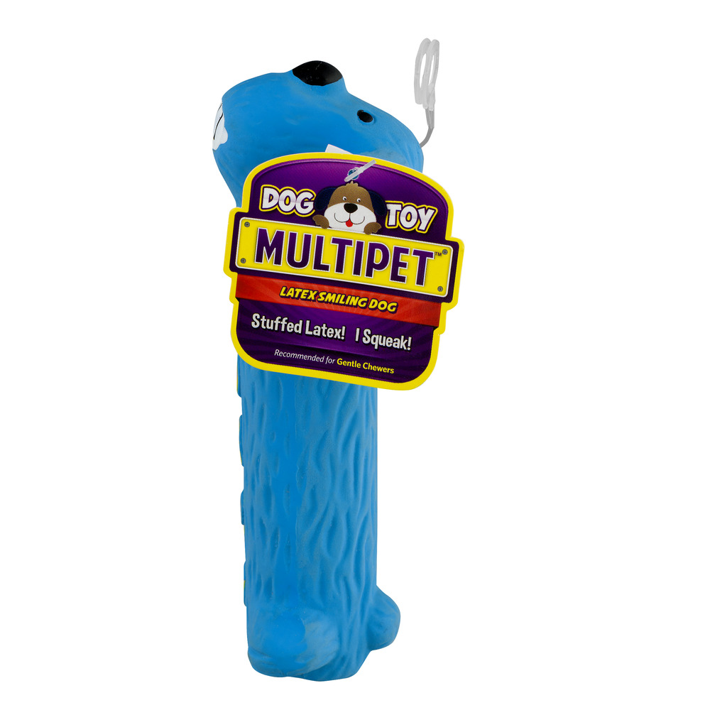 Multipet Latex Smiling Dog Toy, 1 Count