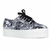 Womens Superga 2790 Annabella Platform Fashion Sneakers - Black/White