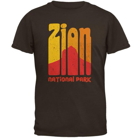 National Park Retro 70s Color Bars Zion Mens T - 70s Clothes Mens