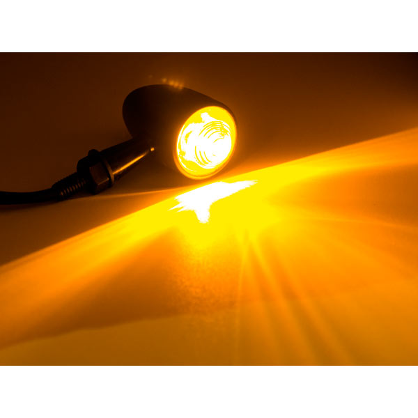 Motorcycle 2 pcs Black Amber Turn Signals Lights For Yamaha TX SR CS YX RD 350 400 500 600 650 750 - image 1 de 6