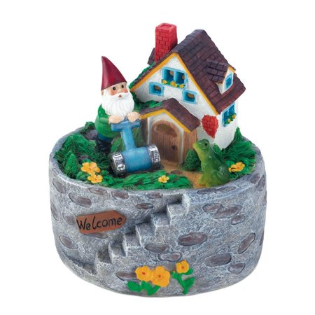 SUMMERFIELD TERRACE Outdoor Solar Garden Statues, Storybook Home Village Outdoor Lawn Gnome (Sold by Case, Pack of 6) (Storybook Decorations)