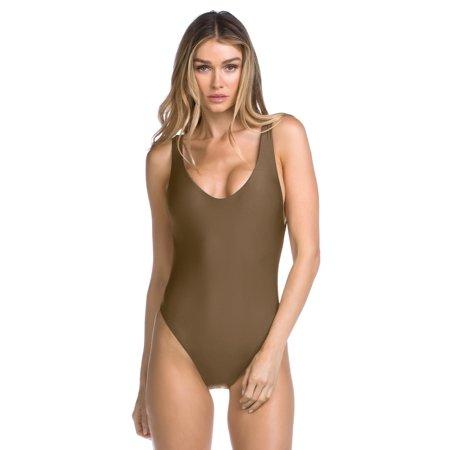 Becca Womens Swimsuit - Becca Women's Shimmer Reversible One Piece Swimsuit