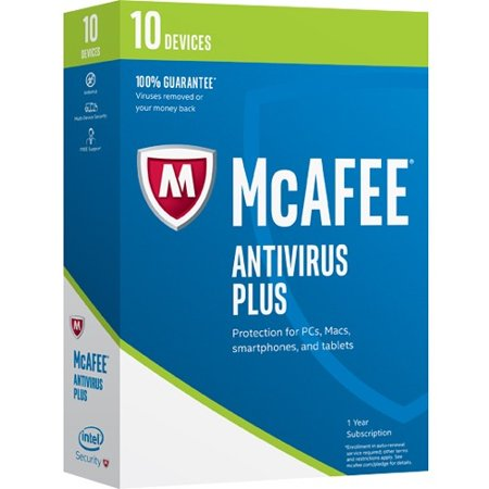 Mcafee Antivirus 2017   10 Device   Antivirus   Box   Retail   Pc
