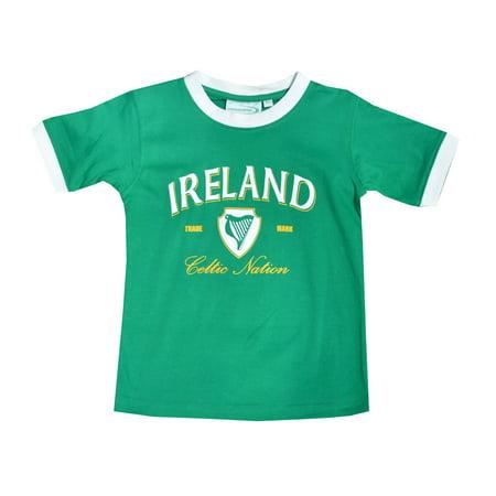 Boy Ringer (Emerald Green Ireland White Ringer Kid T-Shirt)