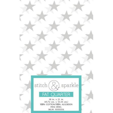 RTC Patriotic White Star, fabrics 100% Cotton,140 Gsm, Fat Quarter, 3 pieces (Office Star Distinctive Fabric)