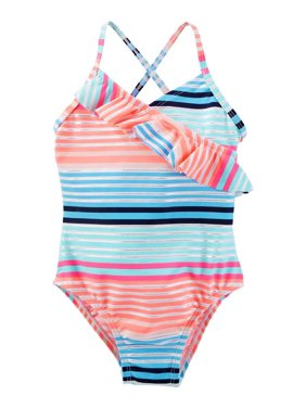 7087ef719aebb Free shipping. Product Image OshKosh Ruffle One-Piece Swimsuit Girls