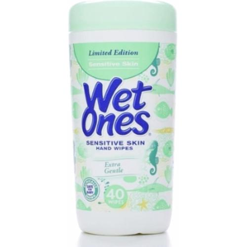 WET ONES Sensitive Skin Moist Wipes Extra Gentle 40 Each (Pack of 3)