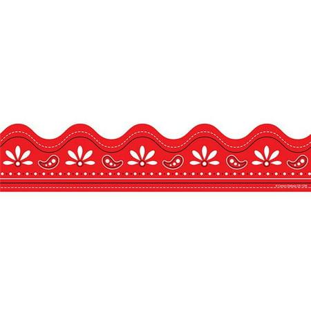 Carson Dellosa CD-1256BN Bandana Straight Border, Red - Pack of 6 - image 1 de 1