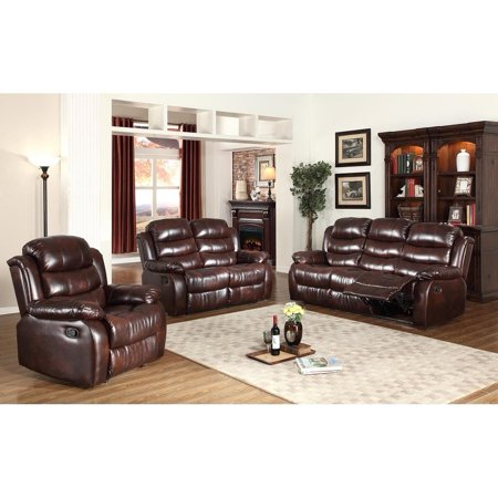 Swell 3Pc Motion Brown Faux Leather Reclining Sofa Loveseat Chair Set Gmtry Best Dining Table And Chair Ideas Images Gmtryco
