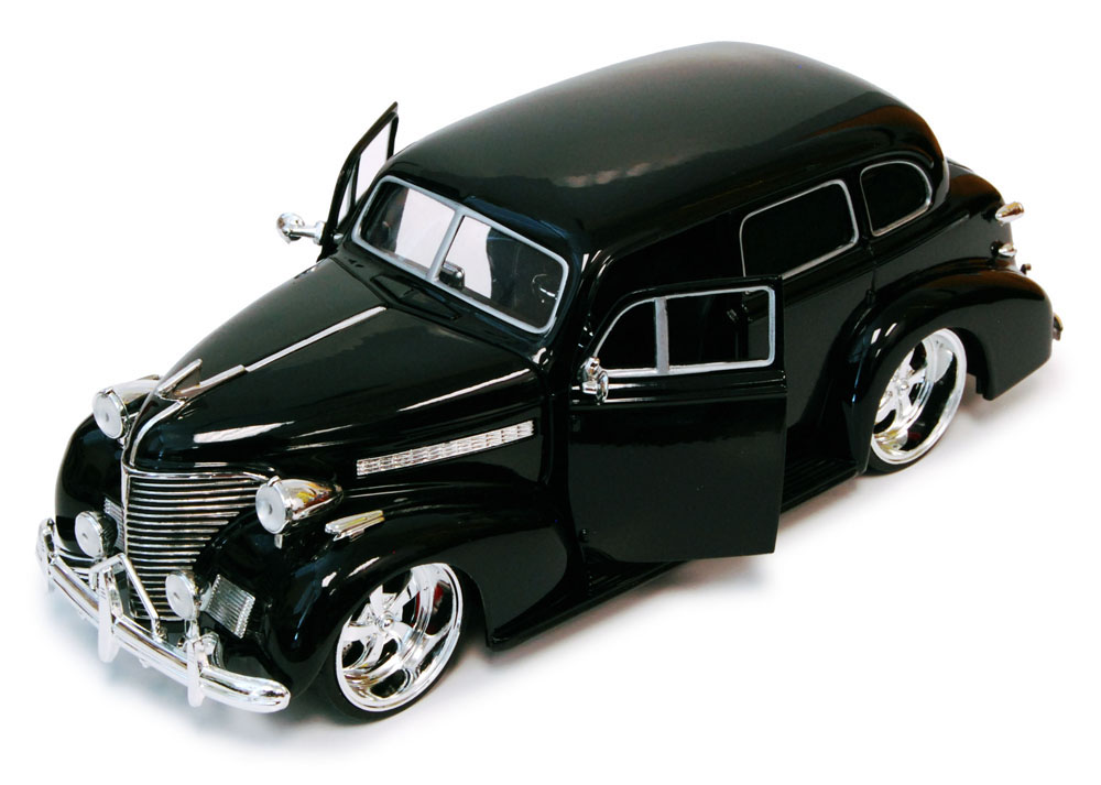 1939 Chevy Master Deluxe, Black Jada Toys Bigtime Kustoms 90224 1 24 scale Diecast Model... by Jada