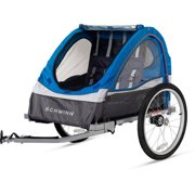 Schwinn Traveler 2-Seater Trailer, Blue/Gray