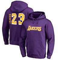 70c75a5d1f27 Product Image LeBron James Los Angeles Lakers Fanatics Branded Sidesweep  Name   Number Pullover Hoodie - Purple