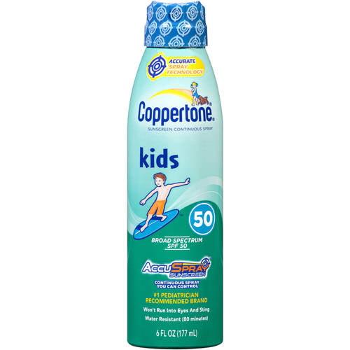 Coppertone Kids Sunscreen Spray SPF 50, 6 Fl Oz