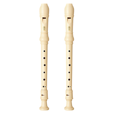 (2 Pack) Yamaha YRS-24B Plastic Soprano Recorder, Key of (Best Plastic Soprano Recorder)